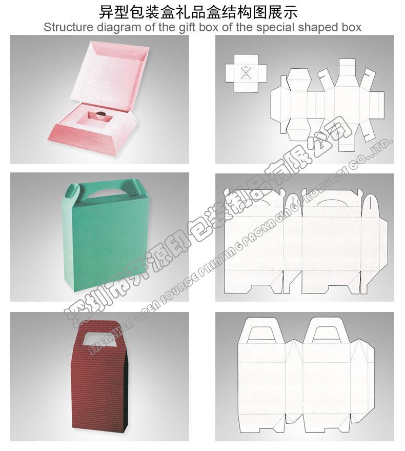 折叠彩盒卡盒异形包装盒型结构图展示 点击放大